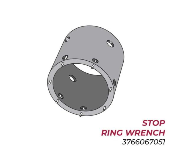 """Stop Ring Wrench -  Slides Over 6.75"""" Sleeve Into 7.90"""" Sleeve - 3766067051"""